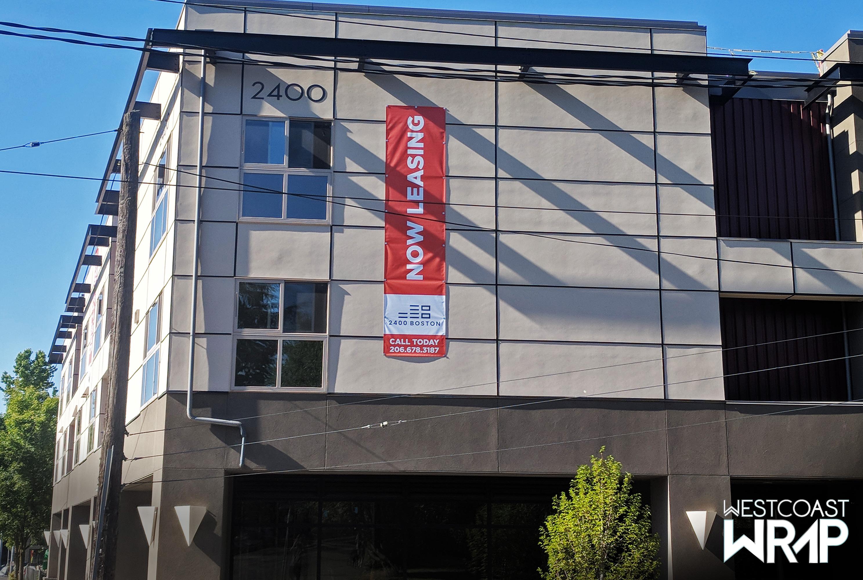 Banners Commercial Real Estate Seattle Westcoast Wrap Seattle Bellevue Westcoast Wrap